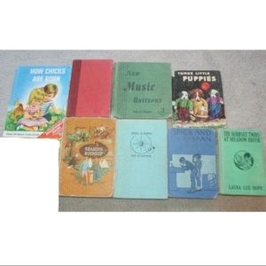 Lot 8 Antique Vintage Children's Books Bobbsey